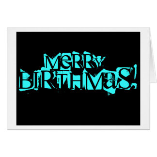 Merry Birthmas Card