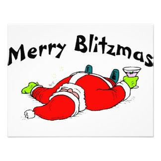 Merry Blitzmas Santa Custom Announcement