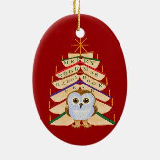 Merry Bookmas Christmas Ornament