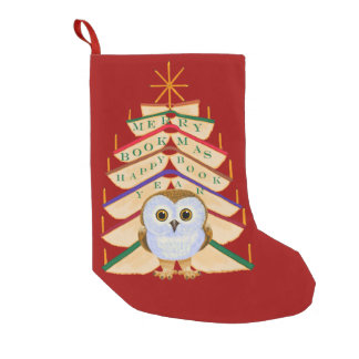 Merry Bookmas Small Christmas Stocking