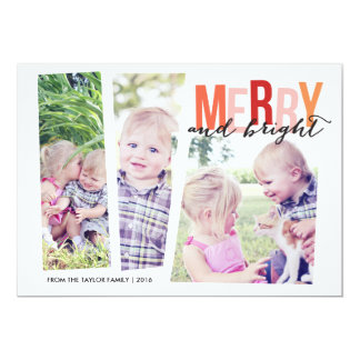 Merry & Bright Blocked Photos Card