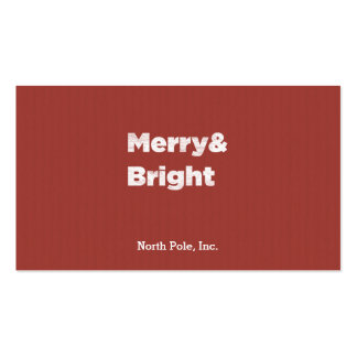 Merry& Bright Business Cards