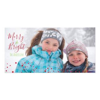 Merry & Bright Christmas Holiday Photocard Card