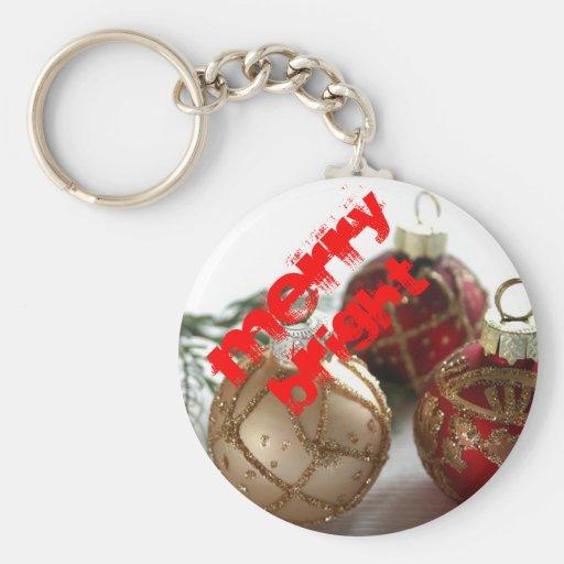 Merry Bright Christmas Keychains-Stocking Stuffer