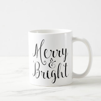 Merry & Bright Christmas mug