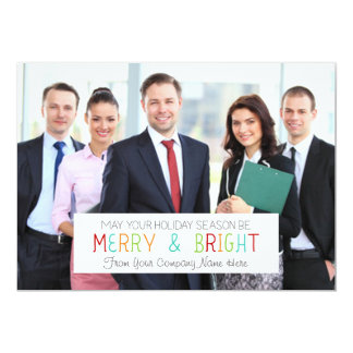Merry & Bright Christmas Photo Card Business 13 Cm X 18 Cm Invitation Card