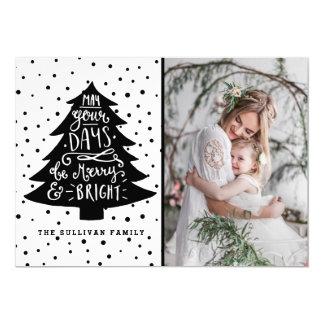 Merry & Bright Christmas Tree | Holiday Photo Card