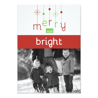 Merry & Bright Customizable Christmas Cards