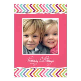 Merry Bright Double Sided Holiday Photo Card