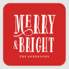 Merry & Bright | Gift Tag Stickers