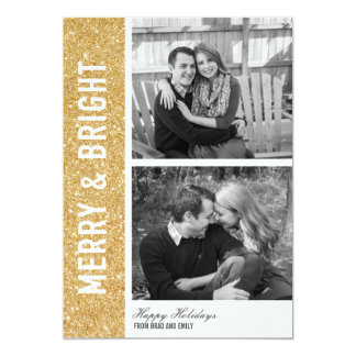 Merry & Bright Glitter Card