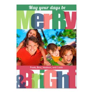 Merry & Bright Holiday Photo Cards 13 Cm X 18 Cm Invitation Card