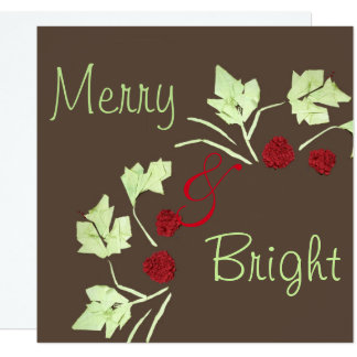"""""""Merry & Bright"""" Holiday Wreath Card"""