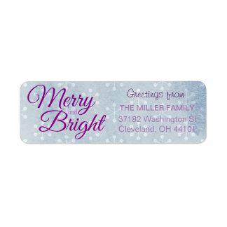 Merry & Bright Holidays Return Address Label