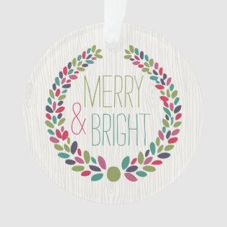 Merry & Bright Modern Woodland Holiday Ornament