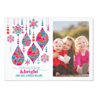 Merry & Bright Ornaments Card