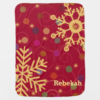 Merry & Bright Personalized Christmas Holiday Baby Blanket