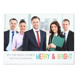 Merry & Bright Photo Card Modern Business 13 Cm X 18 Cm Invitation Card
