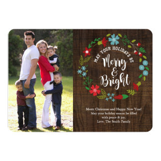 Merry & Bright Photo Christmas Card