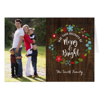 Merry & Bright Photo Christmas Greeting Card