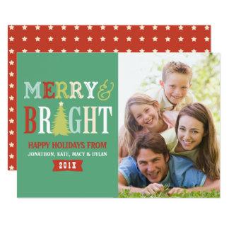 Merry & Bright Retro Color Photo Card