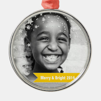 Merry & Bright Stars & Banners Christmas Ornament