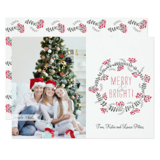 Merry & Bright Wreath Card