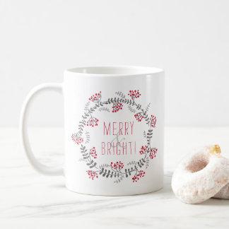 Merry & Bright Wreath Coffee Mug