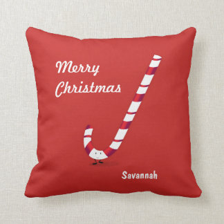 Merry Candy Cane | Throw Pillow