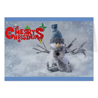 Merry Chirstmas Snowman Card