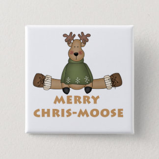 Merry Chris-Moose T-shirts and Gifts 15 Cm Square Badge