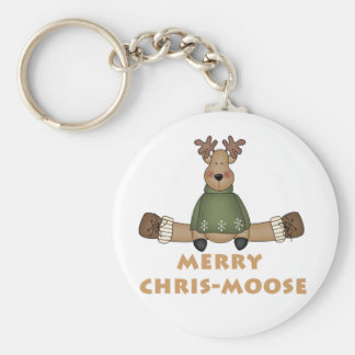 Merry Chris-Moose T-shirts and Gifts Key Ring