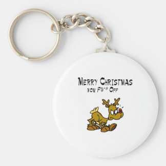 Merry Chrismas Now F*ck Off Key Ring