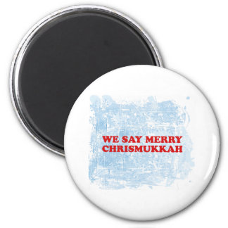 merry chrismukkah 6 cm round magnet