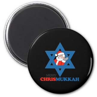 Merry Chrismukkah - 6 Cm Round Magnet