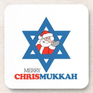 Merry Chrismukkah - Beverage Coasters