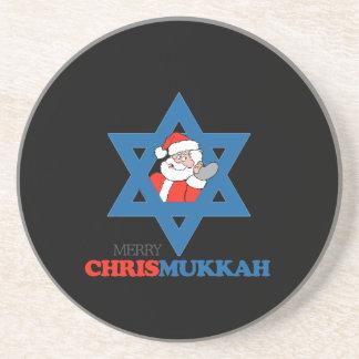 Merry Chrismukkah - Drink Coaster