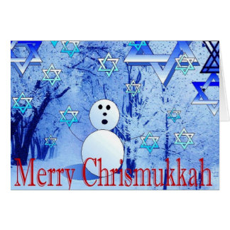 Merry Chrismukkah Jewish Christmas Greeting Card