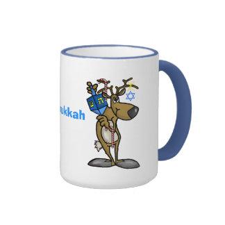 Merry Chrismukkah Jewish Reindeer Mug