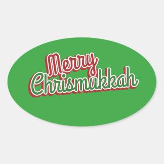 Merry Chrismukkah Oval Sticker