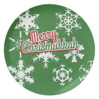 Merry Chrismukkah Plates