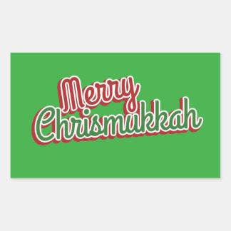 Merry Chrismukkah Rectangular Sticker