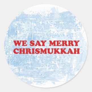 merry chrismukkah round sticker