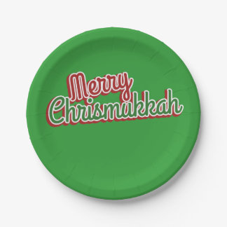 Merry Chrismukkah 7 Inch Paper Plate