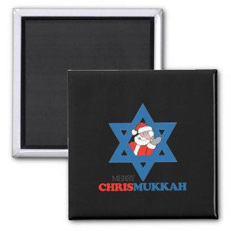 Merry Chrismukkah - Square Magnet