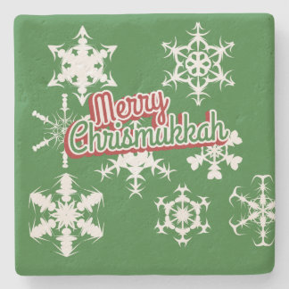 Merry Chrismukkah Stone Beverage Coaster