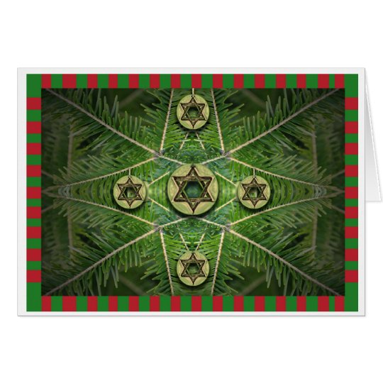 Merry Chrismukkah Tree and Star of David Ornaments
