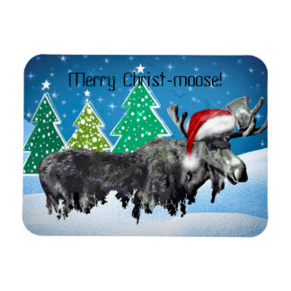Merry Christ-moose magnet