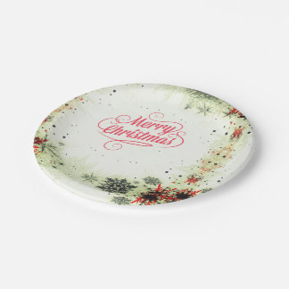 Merry Christmas2 Paper Plate - Option2