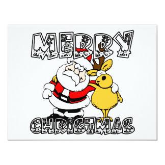 Merry Christmas 11 Cm X 14 Cm Invitation Card
